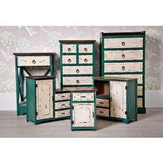 Muebles vintage blanco mueble de tv vintage blanco y azul - Ixia muebles ...