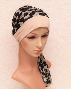 Bad hair day scarf, turban snood, women's turban, chemo head wear, hat for short hair, jersey turban with ties, chemo cap by accessoriesbyrita on Etsy