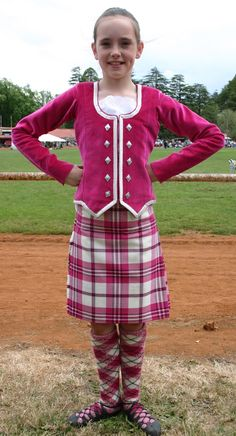 Kilt with pink jacket #Scott #pink #Tartan