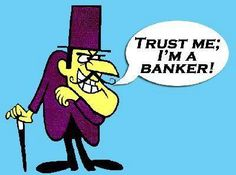 Trust me I'm a banker | Anonymous ART of Revolution