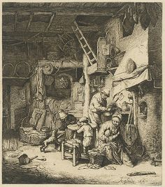 Fine Art Print-The Family, Creator: Adriaen van Ostade (Dutch, Fine Art Print on Paper made in the UK Fine Art Prints, Framed Prints, Canvas Prints, Renaissance, Dutch Golden Age, Museum, Collage, Historical Maps, Hieronymus Bosch