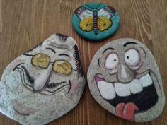 Yüz desenli taş boyama örnekleri