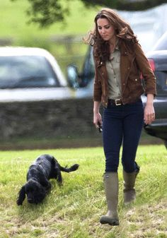 Kate Middleton. She really looks like she's at Montpelier or Keswick Hall, or someplace of that caliber around here...