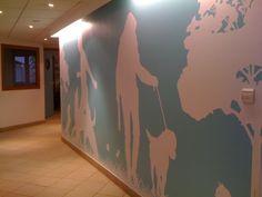 Fresque murale adhésif monomère découpé