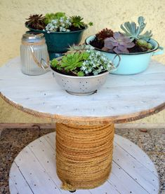 Turn a Spool into a Chic Outdoor Table
