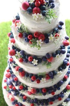 ベリーの可愛さを活かした特大サイズのクレイケーキ。式場様オーダー。デザイン製作しております。http://claydesign.jp/