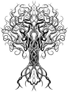 Yggdrasil tree of life for the center instead of the lion