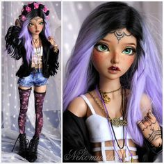 Custom Monster High Dolls, Monster Dolls, Beautiful Barbie Dolls, Pretty Dolls, Enchanted Doll, Cute Baby Dolls, Kawaii Doll, Realistic Dolls, Doll Painting