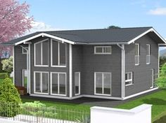 Sample design for a 4 bedroom pre fab luxurios home Stommel Haus, Flat Pack Homes, Prefab Buildings, 4 Bedroom House, Bedrooms, Shed, Houses, Outdoor Structures, Ideas