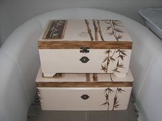 hand-painted boxes
