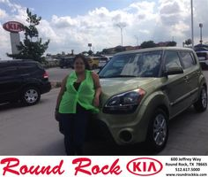 Congratulations to Geneva Cervantez on your #Kia #Soul purchase from Jorge Benavides at Round Rock Kia! #NewCar