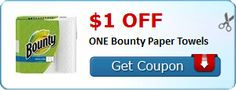 New Coupon!  $1.00 off ONE Bounty Paper Towels - http://www.stacyssavings.com/new-coupon-1-00-off-one-bounty-paper-towels-4/