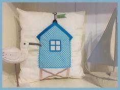 Stickdatei, 10x10, Strandhaus, maritim, doodle von Grete vom Ländle auf DaWanda.com