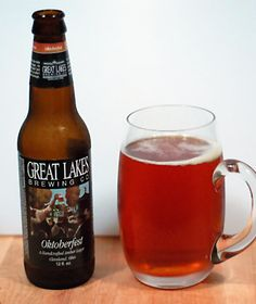Oktoberfest from Great Lakes Brewing Company. Great Lakes beers have been somewhat hit or miss for me; some have been decent, some a little lackluster. Nothing stood out either way, until this one.    This is, so far, the best Märzen I think I've had. It tastes like fresh bread with honey butter coming out of the oven on a brisk autumn morning.