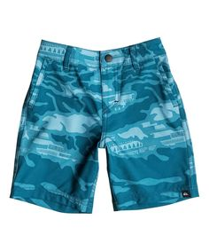 Look at this Quiksilver Dark Denim Mo Amphibian Reflector Shorts - Toddler & Boys on #zulily today!