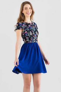 Marella Floral Embroidered Dress