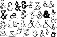 32 Hand Drawn Ampersand Vectors. Objects. $5.00