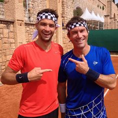 Pat Cash and the Hungarian number 1 tennis player Grigor Dimitrov filming for CNN Open Court.  #patcash #cnn #tv #celebrity #tennis