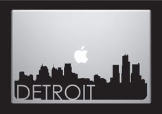 Detroit Skyline Macbook Decal With Writing / Macbook Sticker / Laptop Sticker - 3. $9.99, via Etsy.