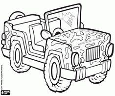Risultati immagini per jeep da colorare mezzi for Jeep da colorare