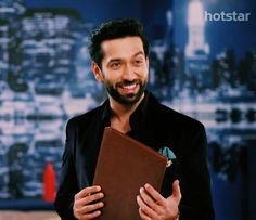 His beautiful smile Back Stitch Embroidery, Nakul Mehta, Dil Bole Oberoi, Surbhi Chandna, Mr Perfect, Tv Actors, He's Beautiful, Bollywood Stars, Peace And Love