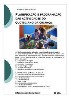 ufcd 3252. Planificação e programação de actividades do quotidiano da criança