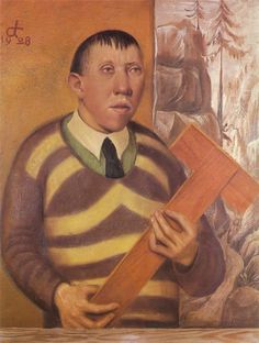 Otto Dix - Portrait of Franz Radziwill, 1928 - This painting was banned by the Nazi regime and exhibited at the Degenerate art exhibition in Munich in Portraits, Portrait Art, Wassily Kandinsky, Art Dégénéré, Karl Schmidt Rottluff, Antoine Bourdelle, George Grosz, Degenerate Art, Art Database