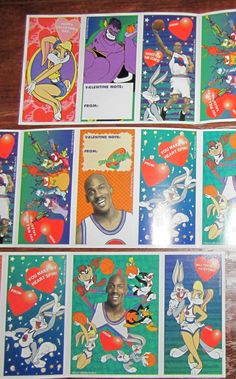 Space Jam Valentine's Day cards. Need these in my life ASAP! | 28 Valentine's Day Cards You Haven't Seen Since The '90s