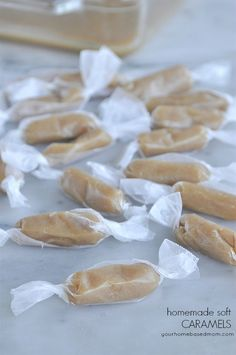 Homemade Caramels! Soft, chewy, and delicious.