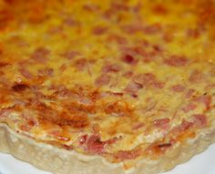 Quiche de jamón y queso