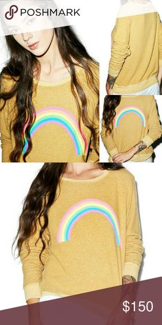 *NWT* wildfox marigold rainbow sweater oversized S *offers welcomed*  Sold out online brand new with tags wildfox sweater. Marked as an oversized size small.  Easily fits medium or large. Wildfox Sweaters