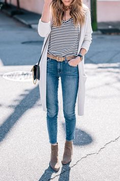 Outfit ideas and affordable Ankle Boots for Fall | Jess Ann Kirby Autumn Fashion Casual, Fall Fashion Outfits, Autumn Winter Fashion, Winter Outfits, Simple Fall Outfits, Cool Outfits, Casual Outfits, Minimal Fashion, Outfits