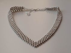 FREE SHIPPING Silver Beaded Statement Necklace / by InisHandmade