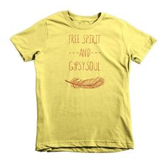 Hippie Free Spirit and Gypsy Soul Boho Short Sleeve Kids T-Shirt
