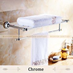Crystal Copper Chrome Finish Towel Holder Towel Rack Bathroom Accessories Towel Bars 6303