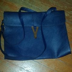 Navy & Gold envelope clutch crossbody So amazing! Must have! Bags