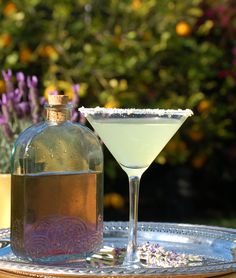 Lavender Lemon drop Martini --I will be trying this!
