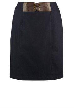 Avenue Plus Size Double Buckle Skirt $29.99