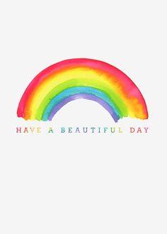 Rainbow Paper, Rainbow Art, Rainbow Colors, Rainbow Painting, Love Rainbow, Happy Quotes, Positive Quotes, Rainbow Quote, Rainbow Sayings