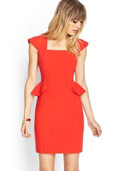 Cap Sleeve Peplum Dress | FOREVER21 #F21Contemporary