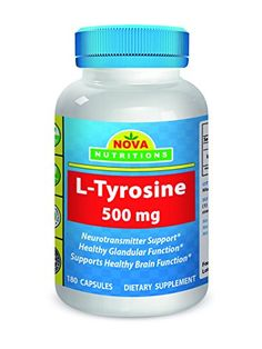 Nova Nutritions L-Tyrosine 500 mg 180 Capsules * Want to know more, click on the image.