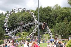 #Alton_Towers 'Enterprise' and 'Oblivion' at Alton Towers.