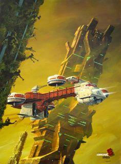 concept aliens: Les Tours de Samarante by MANCHU