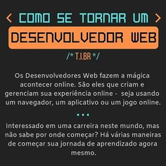 Desenvolvedor Web, Evolution, 1, Instagram, Online Games, Apps, Step By Step