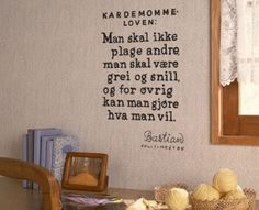 Kardemommeloven Simple Words, Cool Words, Norway, Hand Lettering, Mindset, Wisdom, Lol, Humor, My Love