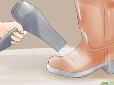 5 Ways to Stretch Boots - wikiHow Rubber Shoes, Rubber Rain Boots, How To Stretch Boots, Eclectic Style, 5 Ways, Stretches, Calves, Tips, Fashion
