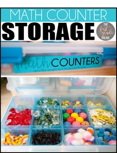 Storage Solutions for small math counters and seasonal manipulatives. First Grade Parade, First Grade Math, Third Grade, Home Organization Hacks, Teacher Organization, Classroom Setting, Classroom Design, Math Counters, Shoe Organizer