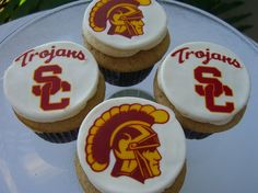 USC Trojans Cupcakes...can't have enough cupcakes at a tailgate! #UltimateTailgate #Fanatics