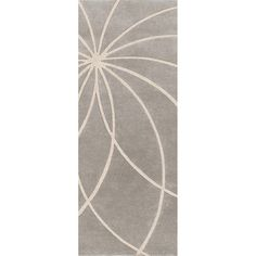 Hand-tufted Beernem Dove Grey Wool Rug (3' x 12') | Overstock.com  3-29-13 $248.99 -would look nice in one of our hallways!!