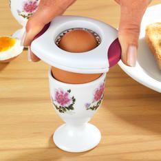 Oddeľovač vaječných škrupín, biela - červená MAGNET
